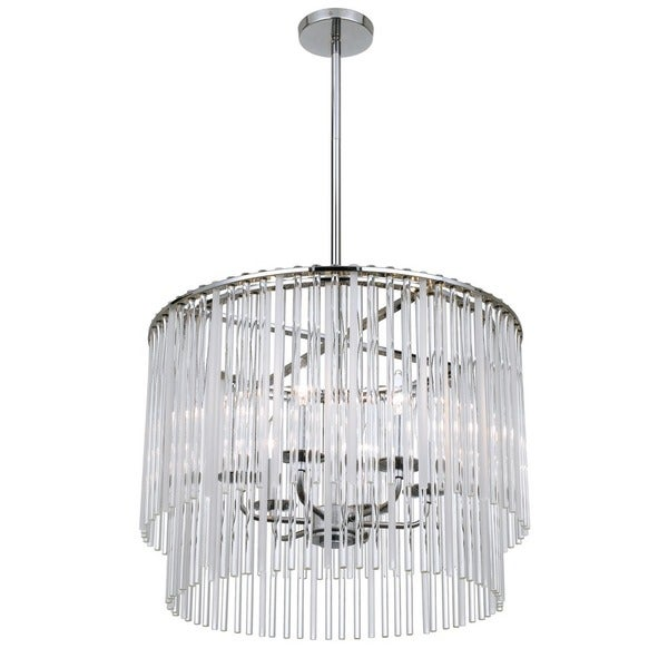 Crystorama Bleecker Collection 6-light Chrome Chandelier