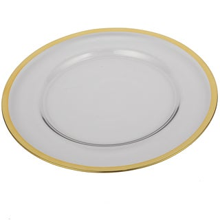13-inch Glass Charger with Gold Rim