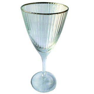 Silver-rim Optical White Wine Glass (Purchase Minimum of 4)