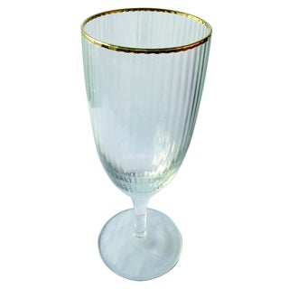Gold-rim Optic Goblet (Purchase Minimum of 4)