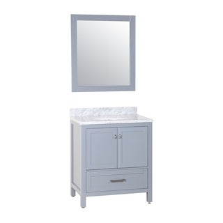 Zenith Bathroom 30-inch Solid Wood With Double-layer Marble Vanity With Undermount Ceramic Sink