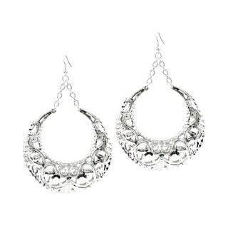 Silver Jumbo Doorknocker Hoop Earrings