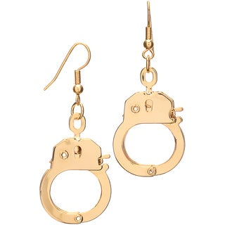 Gold Color Dangle Handcuff Earrings