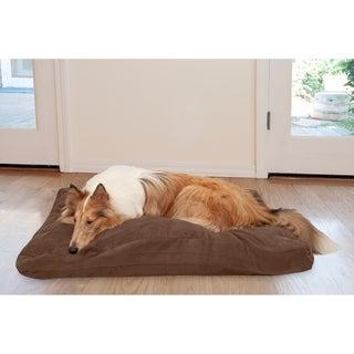 FurHaven Suede Quilted Deluxe High Loft Fiber Dog Bed