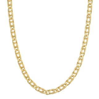 Fremada 10k Yellow Gold 2.5-mm High Polish Hollow Flat Link Chain Necklace