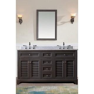 Ari Kitchen and Bath Madison 60-inch Marble Countertop And Maple Grey Double Bathroom Vanity Set