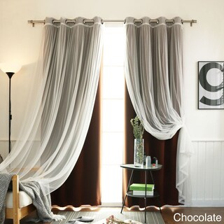 4-piece Sheer Blackout Grommet Top Curtain Panels (More options available)