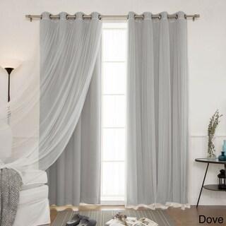 Aurora Home Mix and Match Blackout Blackout Curtains Panel Set (4-piece) (3 options available)