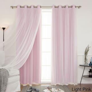 Aurora Home Mix And Match Blackout Curtains Panel Set 4 Piece
