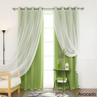 Aurora Home Mix and Match Blackout Blackout Curtains Panel Set (4-piece) (2 options available)
