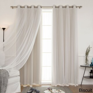 Aurora Home Mix and Match Blackout Blackout Curtains Panel Set (4-piece) (More options available)