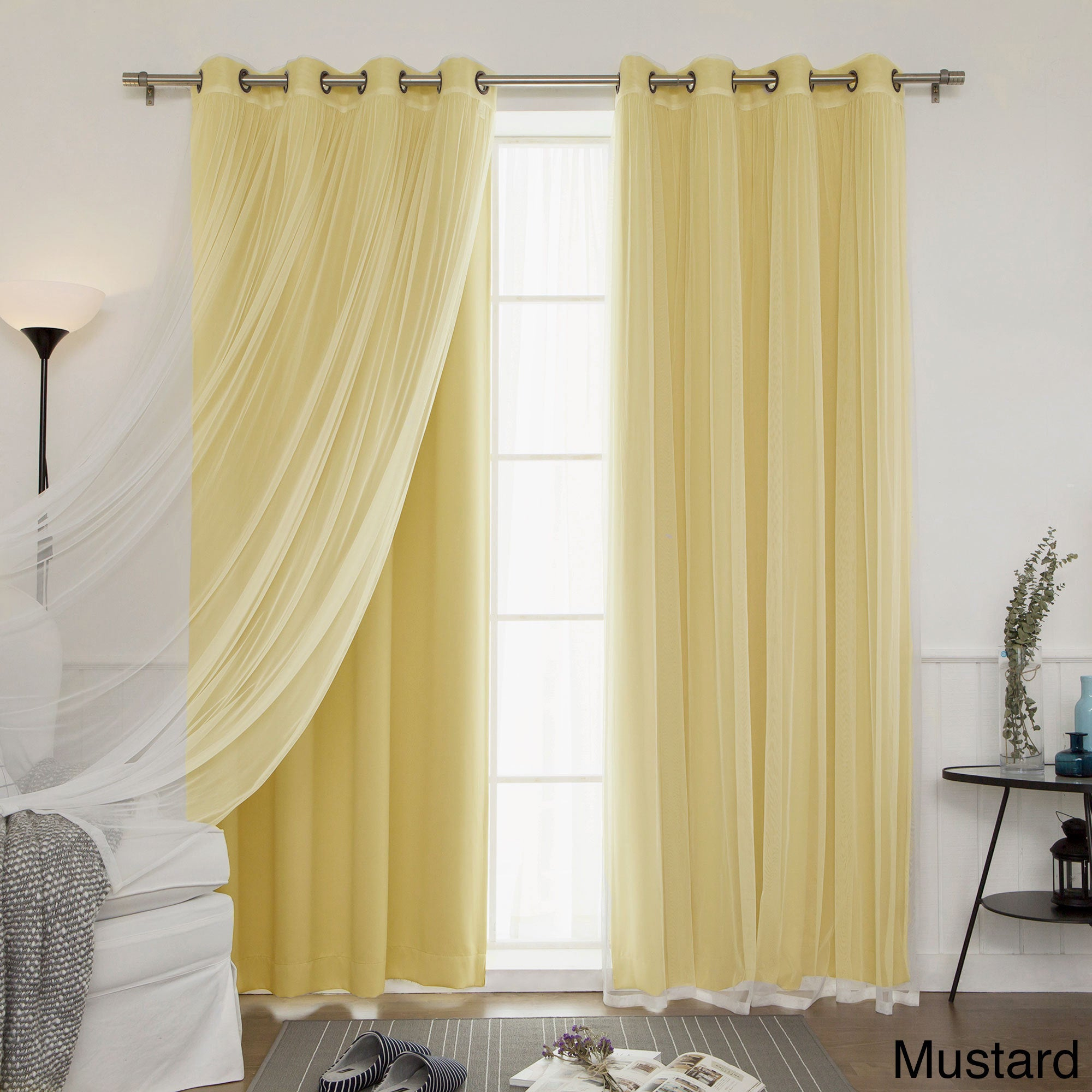 Aurora Home Mix And Match Blackout Curtains Panel Set 4 Piece On Free Shipping Today 11816183