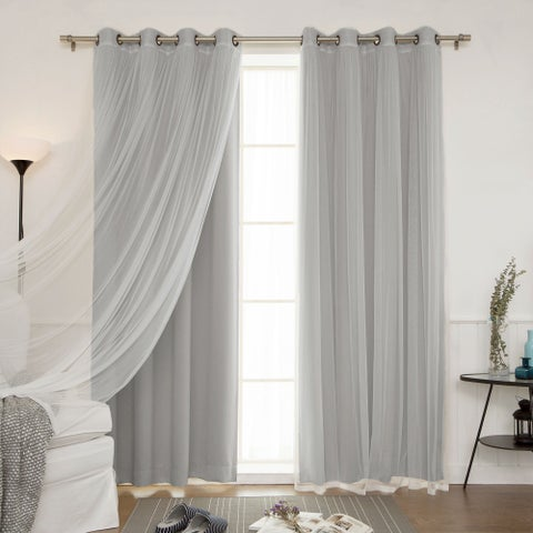 Aurora Home Mix and Match Blackout Blackout Curtains Panel Set (4-piece)