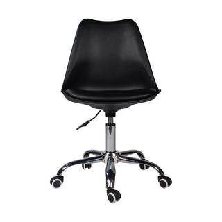 Palm Canyon Carmelita Leather Office Chair with Wheels