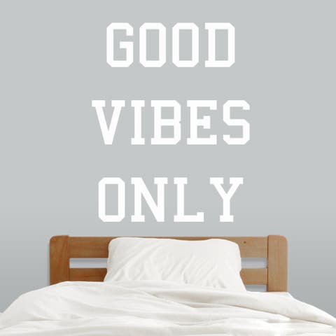 Good Vibes Only Wall Decals (38-inch wide x 48-inch tall)