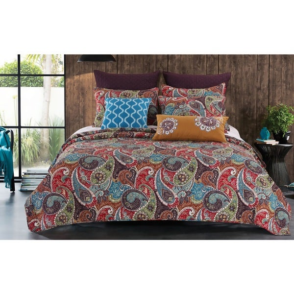 Greenland Home Fashions Tivoli 3-piece Quilt Set
