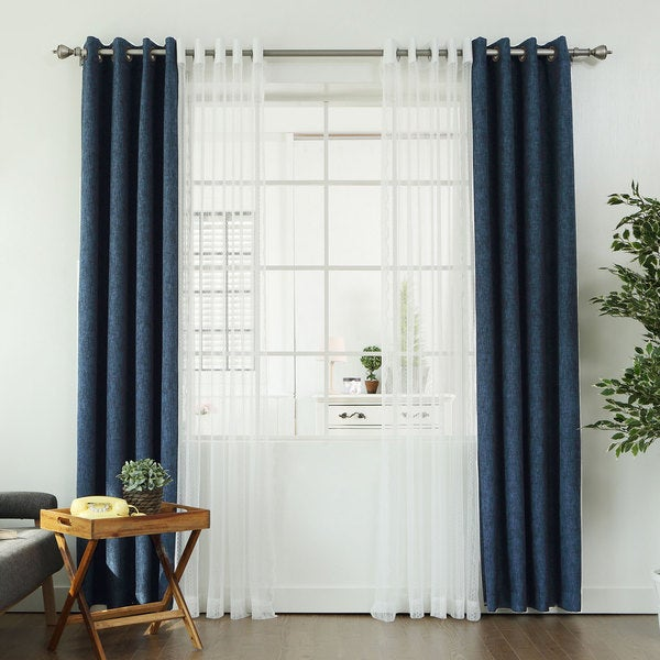 Aurora Home MIX & MATCH CURTAINS Linen Look Blackout And