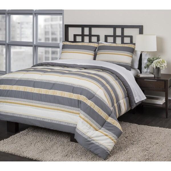 Neutral Stripe 3-piece Duvet Set