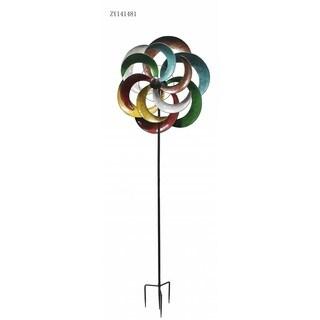 Multicolor 80-inch Windmill Stake