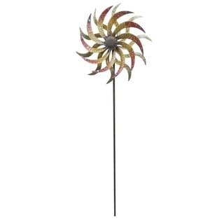 Windmill Metal 73-inch Garden Stake