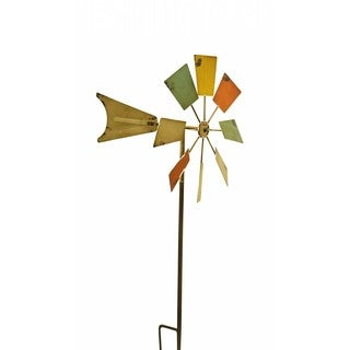 Multicolored Metal 52-inch Windmill Stake