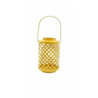 Yellow Metal Solar Light Lantern