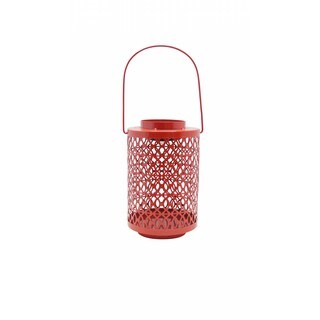 Red Metal Solar Light Lantern