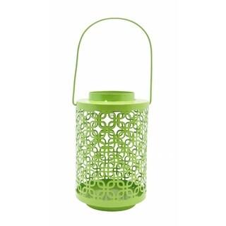 Green Metal Solar Light Lantern
