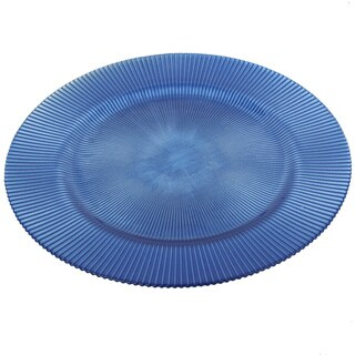 13-inch Blue Glass Charger