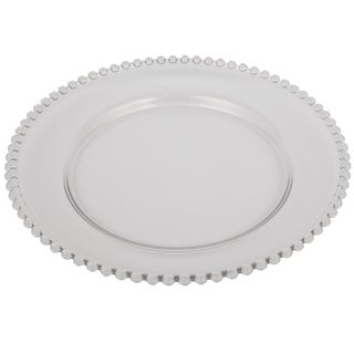 13-inch Beaded Rim Glass Charger