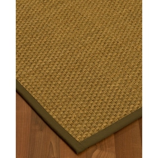 Handcrafted Calabria Natural Seagrass Rug - Taupe Binding, (2' x 3')
