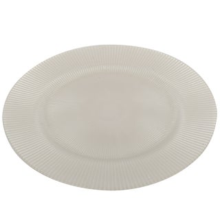 White Glass 13-inch Charger Plate
