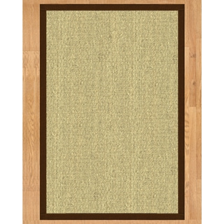 Handcrafted Seychelles Natural Seagrass Rug - Taupe Binding, (2' x 3')
