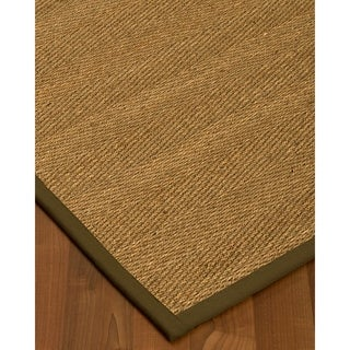 Handcrafted Costa Rica Natural Seagrass Rug - Taupe Binding, (2' x 3')