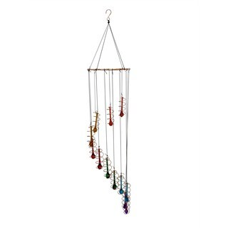 36-inch Beaded Colorful Glass Hanging Decor