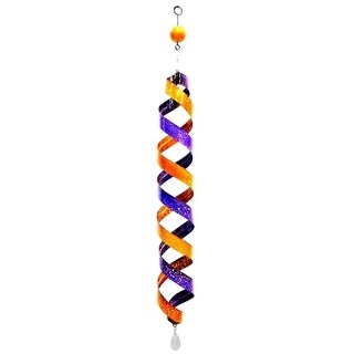 40-inch Purple / Orange Swirl Metal Decor