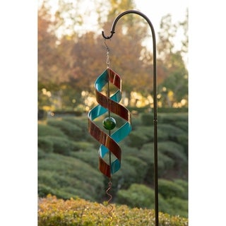 Red and Blue Metal 34-inch Swirl Decor with Red Tail