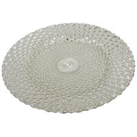 Textured Silver Glass 13-inch Charger