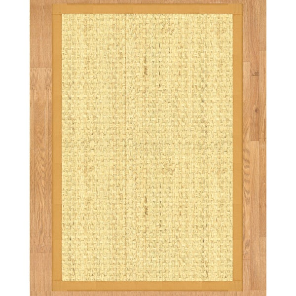 Handcrafted Miami Natural Seagrass Rug - Natural Binding, (2' x 3')