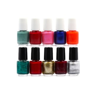 Beauty Brags Mini Nail Polish Collection Set (10 Pieces)