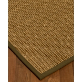 Handcrafted Hamptons Natural Seagrass Rug - Light Brown Binding, (2' x 3')