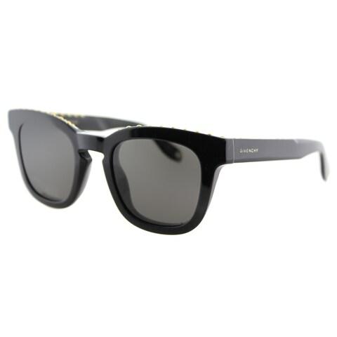 Givenchy GV 7006 807 NR studded Black Plastic Square Grey Lens Sunglasses