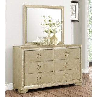 Abbyson Living Valentino Mirrored 6-drawer Dresser and Mirror Set