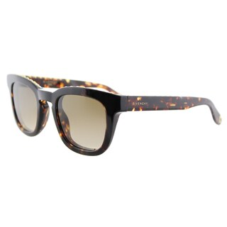 Givenchy GV 7006 TLF studded Havana Plastic Square Brown Gradient Lens Sunglasses