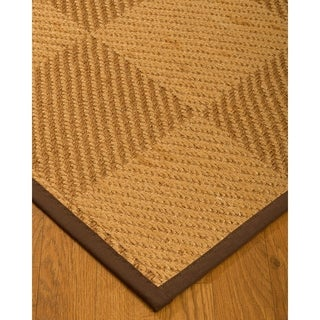 Handcrafted Osaka Natural Sisal Rug - Dark Brown Binding, 2' x 3'