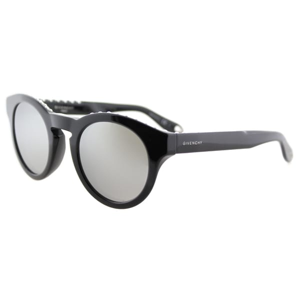 d1cbb59be Shop Givenchy GV 7007 807 SS studded Black Plastic Round Silver Mirror Lens  Sunglasses - Free Shipping Today - Overstock - 11816449