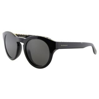 Givenchy GV 7007 807 NR studded Black Plastic Round Grey Lens Sunglasses