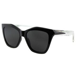 Givenchy GV 7008 AM3 Black Crystal Plastic Cat-Eye Grey Lens Sunglasses