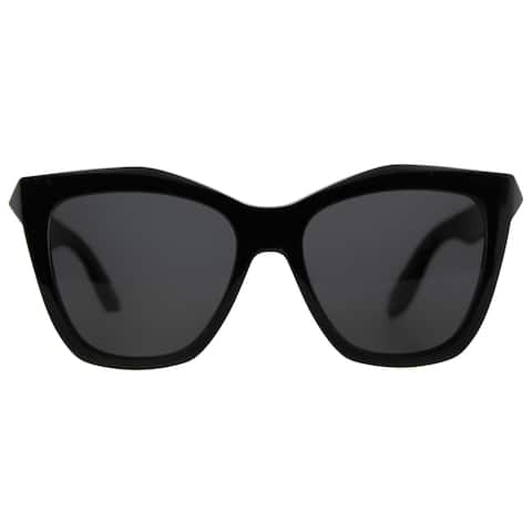 Givenchy GV 7008 QOL Black Plastic Cat-Eye Grey Lens Sunglasses