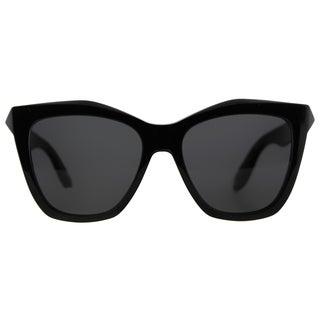 Givenchy GV 7008 QOL Black Plastic Cat-Eye Grey Lens Sunglasses
